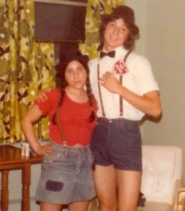 My parents as teenagers in the good ol' days. (1973?)